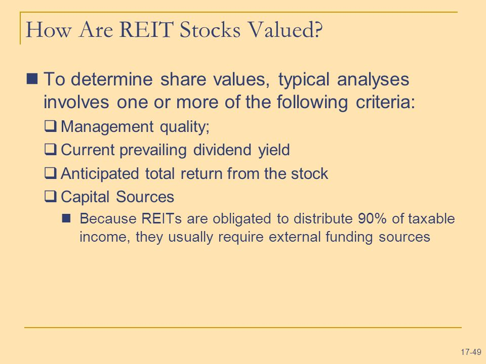 How Are REIT Stocks Valued