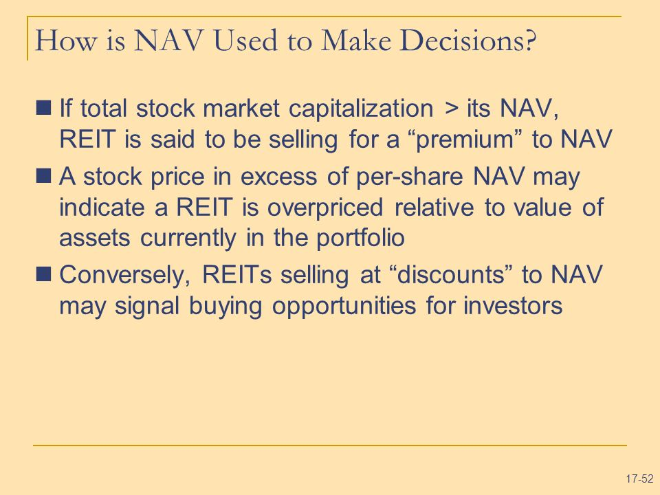 How is NAV Used to Make Decisions