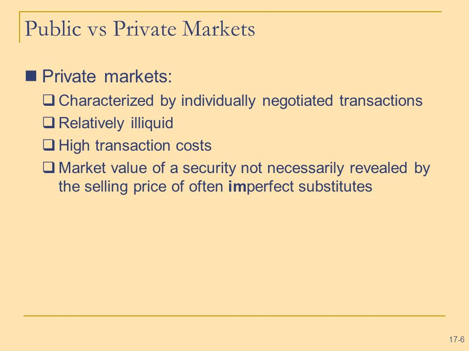 Public vs Private Markets