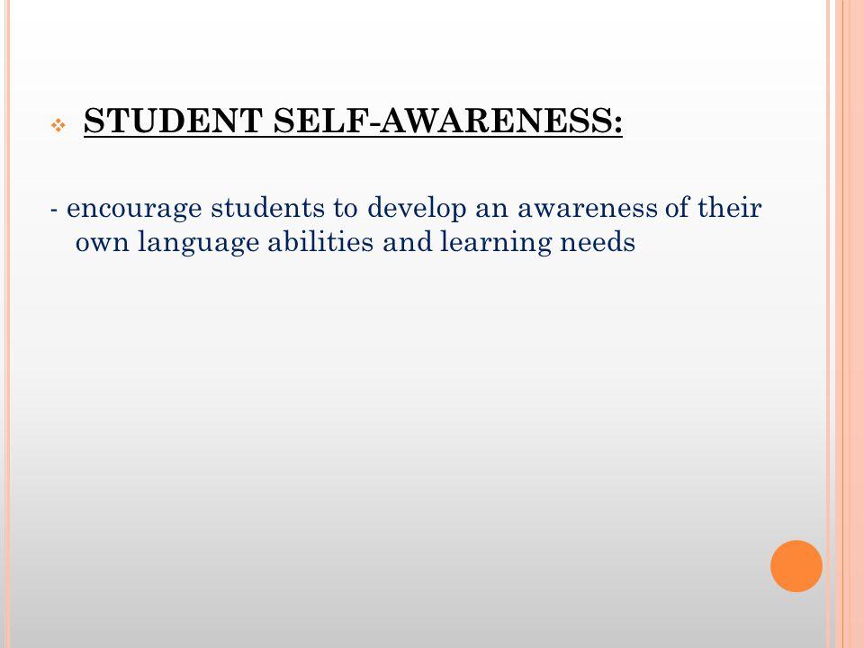 STUDENT SELF-AWARENESS: