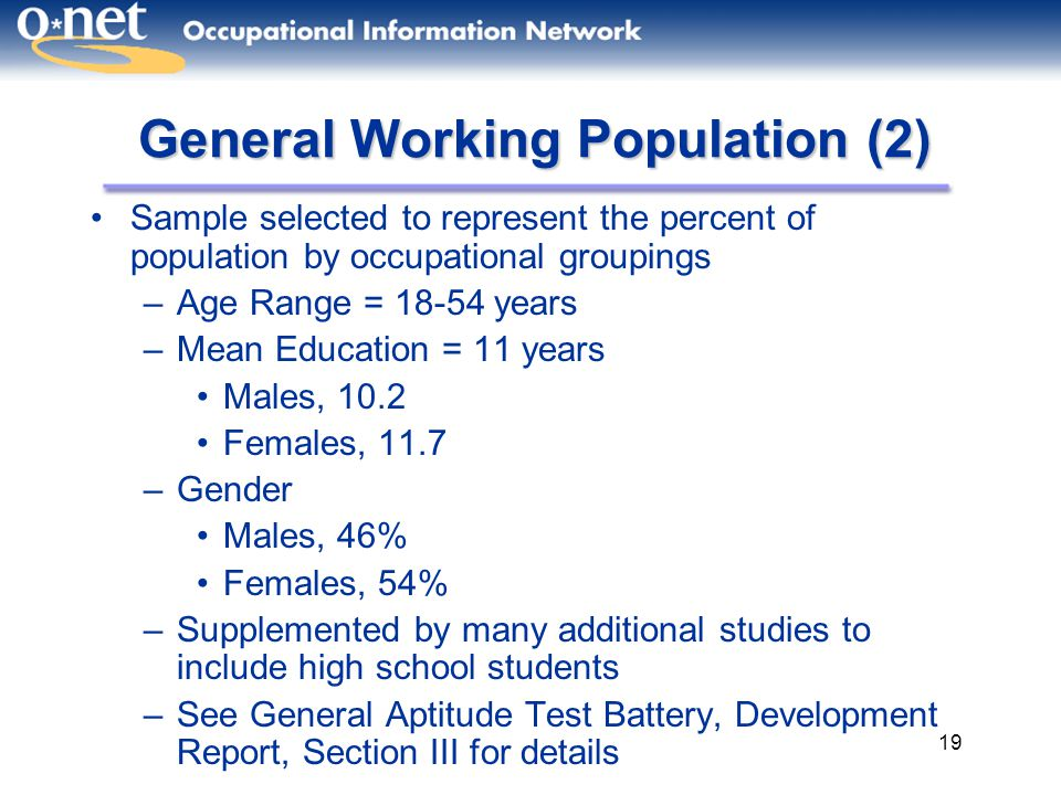 General Working Population (2)