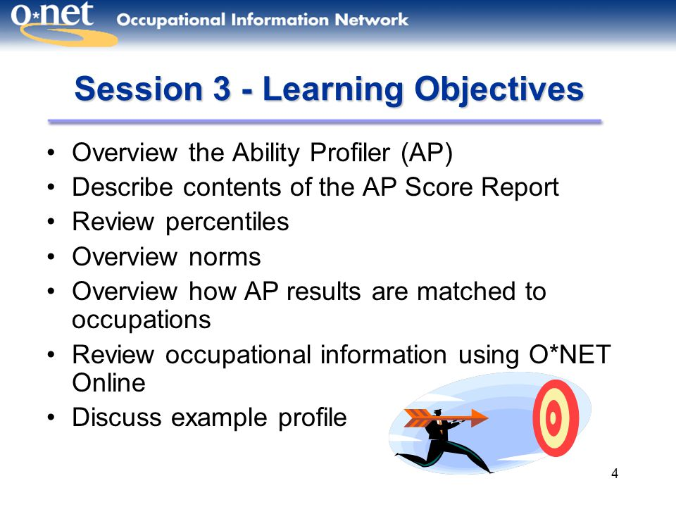 Session 3 - Learning Objectives