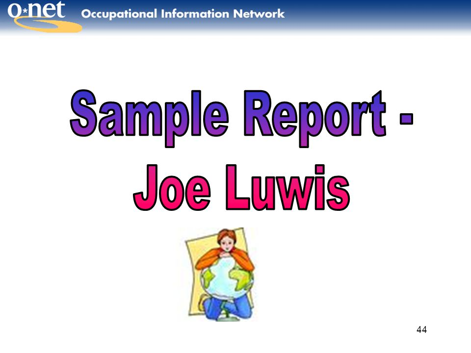 Sample Report - Joe Luwis