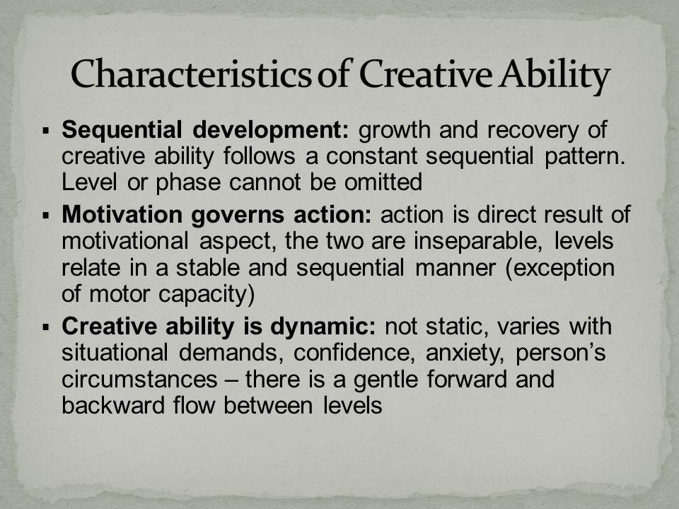 Characteristics of Creative Ability