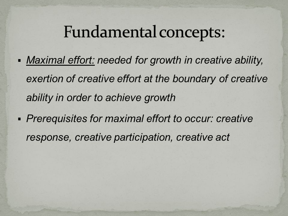 Fundamental concepts: