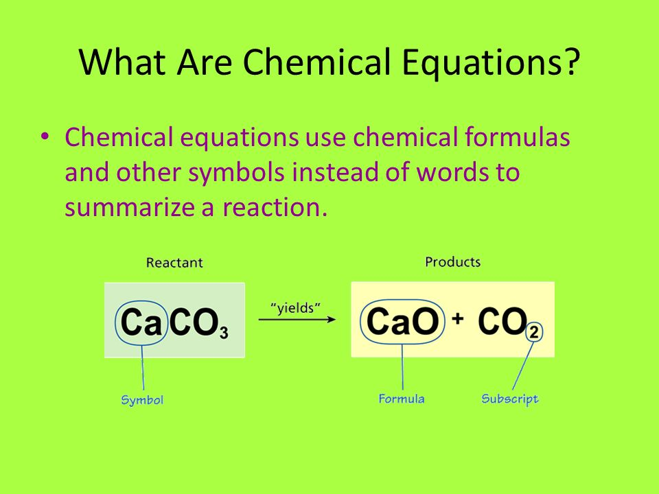 What Are Chemical Equations