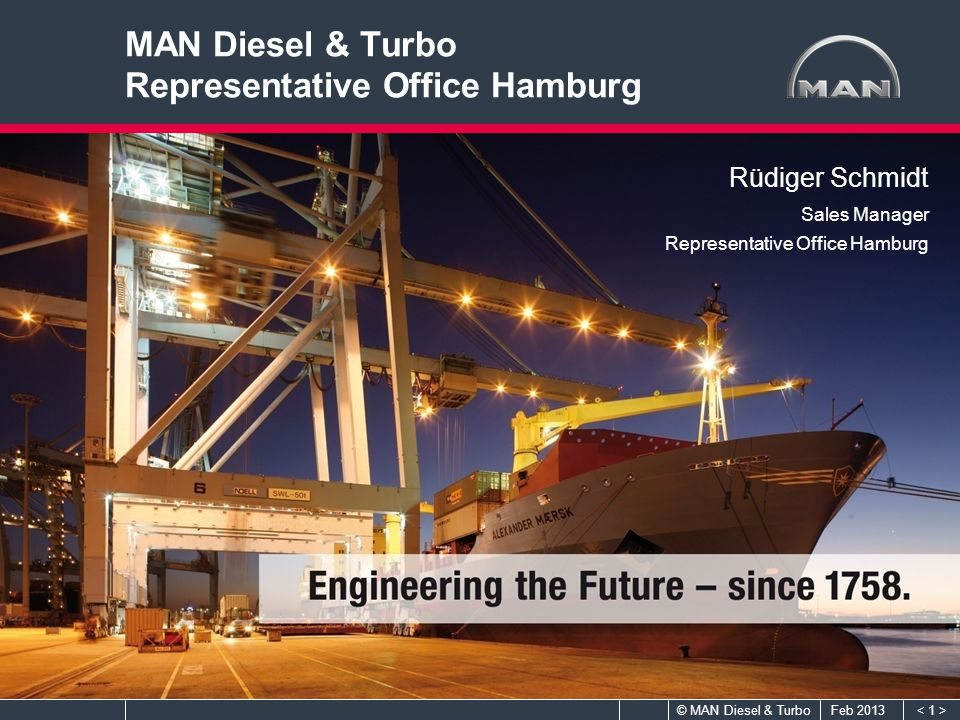 MAN Diesel & Turbo Representative Office Hamburg