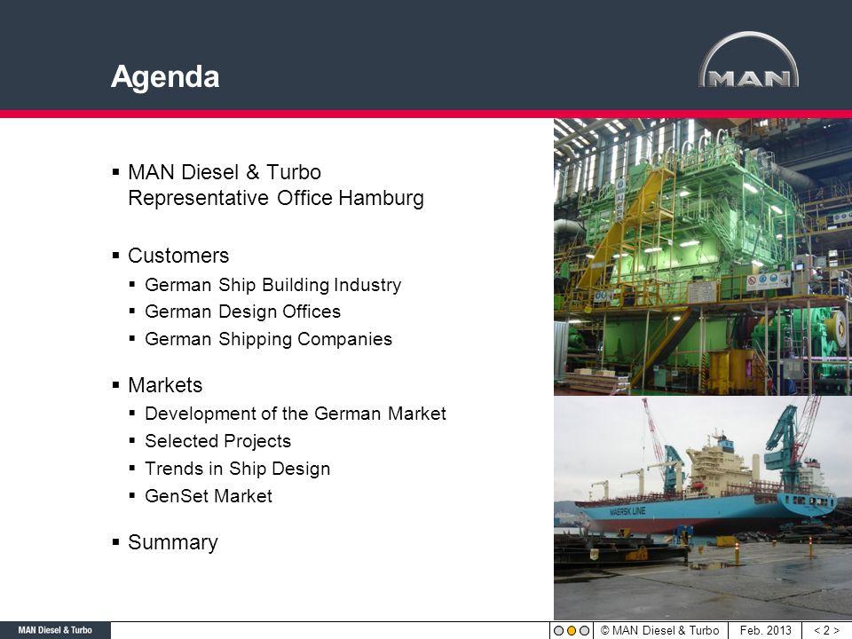 Agenda MAN Diesel & Turbo Representative Office Hamburg Customers