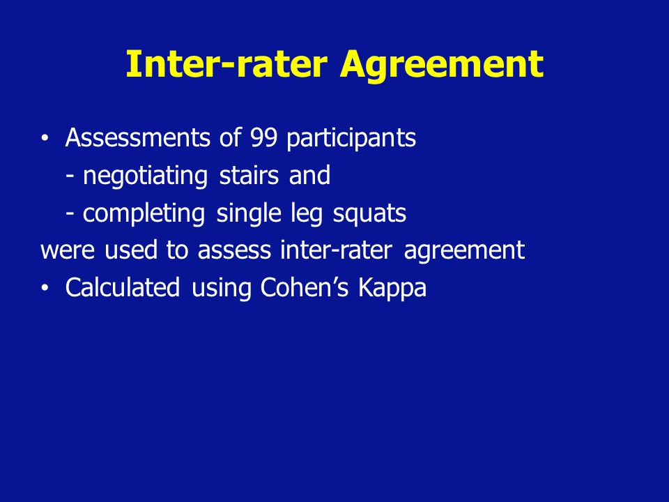 Inter-rater Agreement