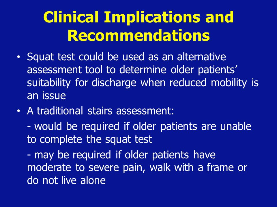 Clinical Implications and Recommendations