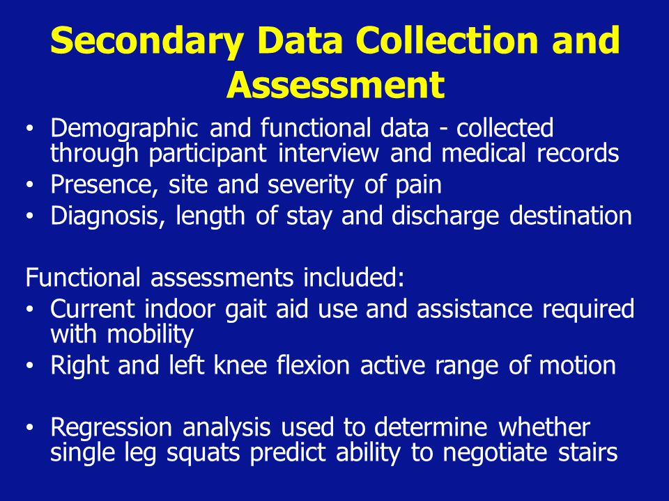 Secondary Data Collection and Assessment