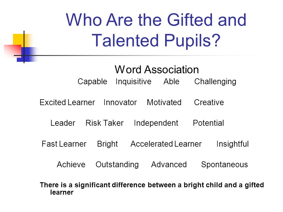 Who Are the Gifted and Talented Pupils