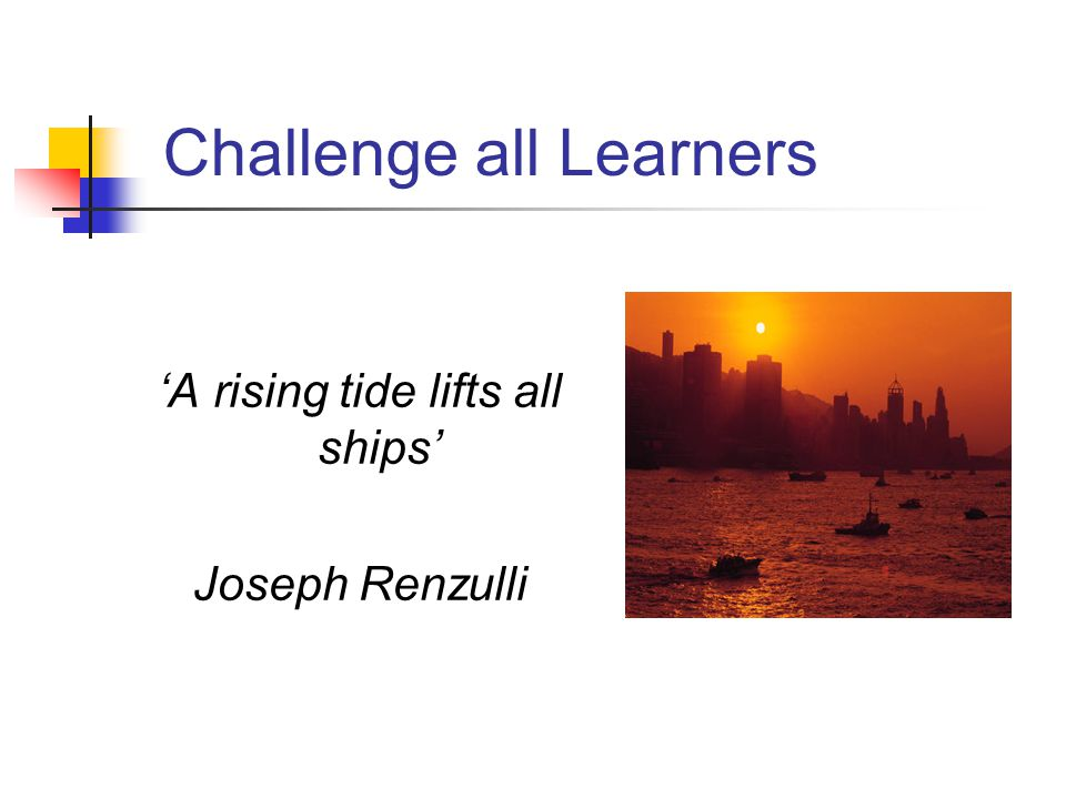 Challenge all Learners