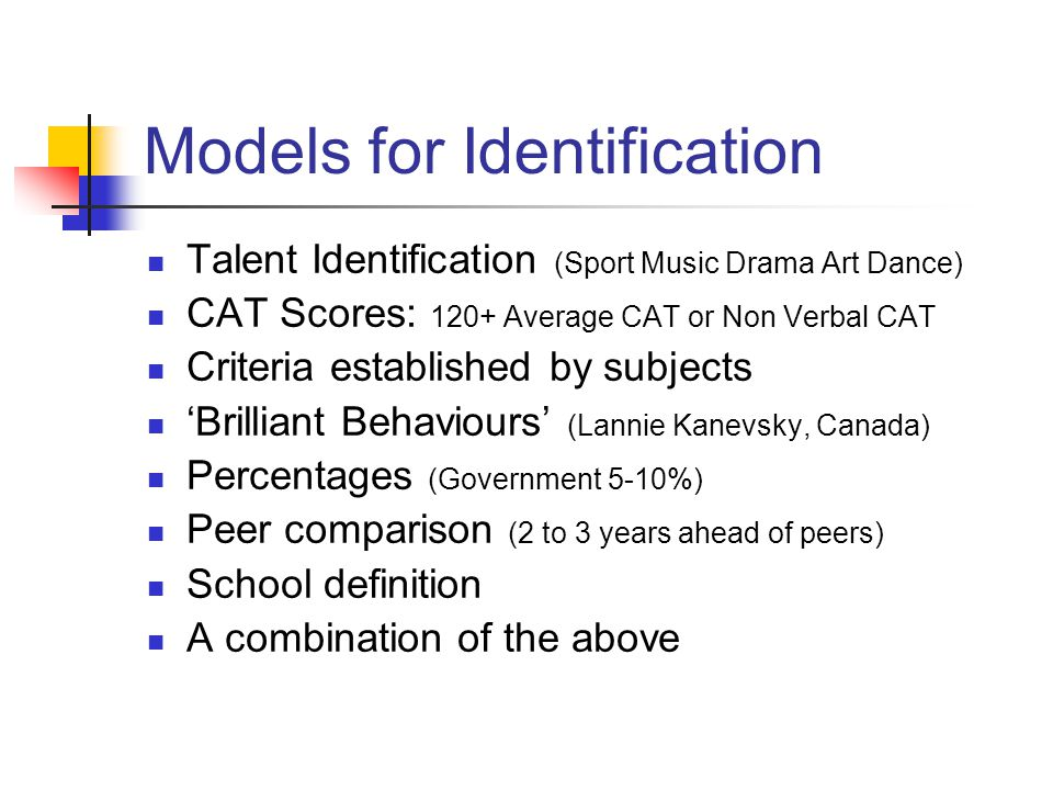 Models for Identification