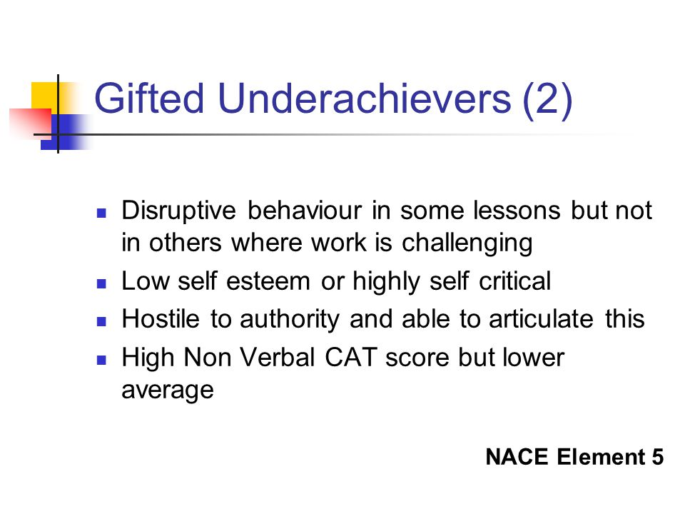 Gifted Underachievers (2)