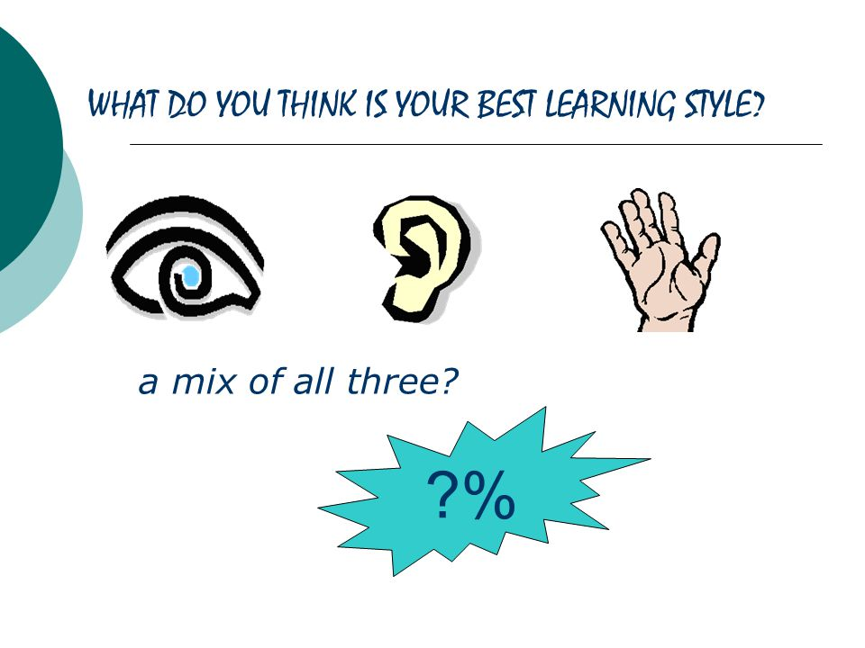 WHAT DO YOU THINK IS YOUR BEST LEARNING STYLE