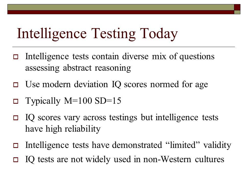 Intelligence Testing Today