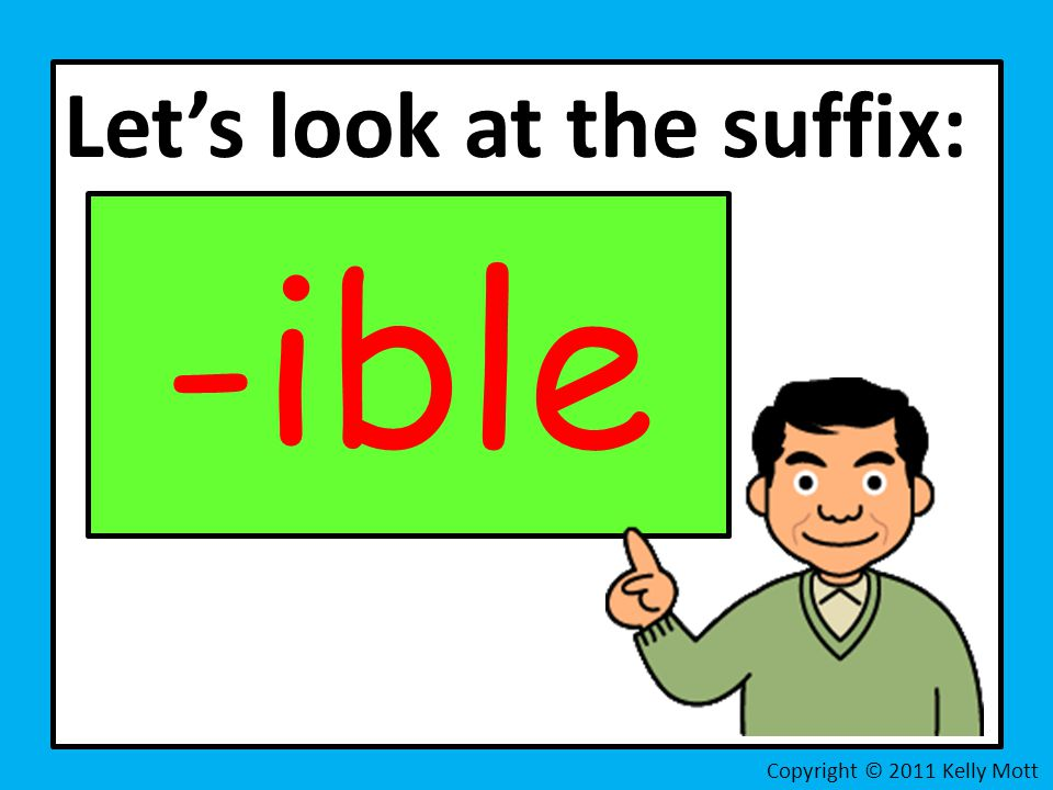 Let's look at the suffix: