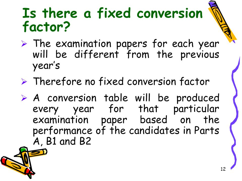 Is there a fixed conversion factor