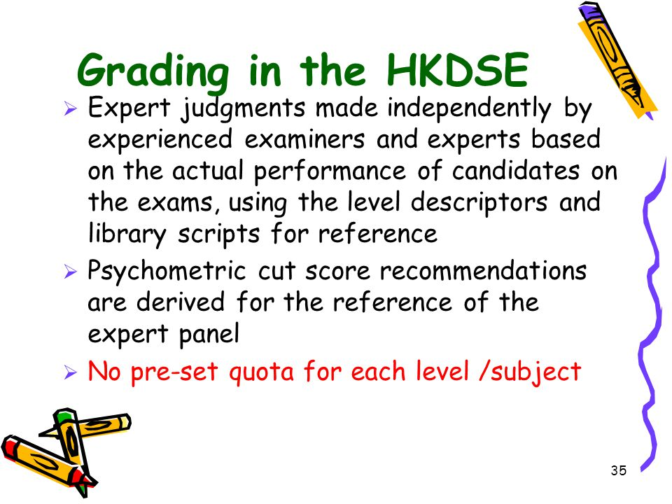 Grading in the HKDSE