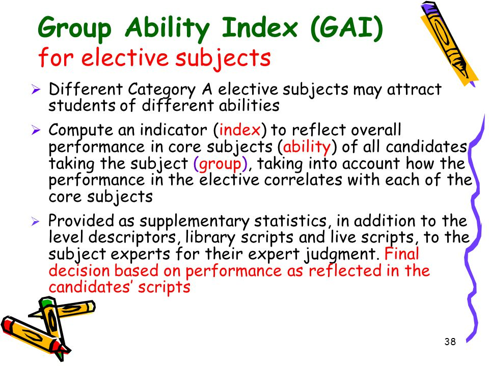 Group Ability Index (GAI)