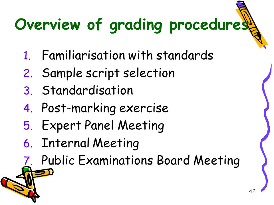 Overview of grading procedures