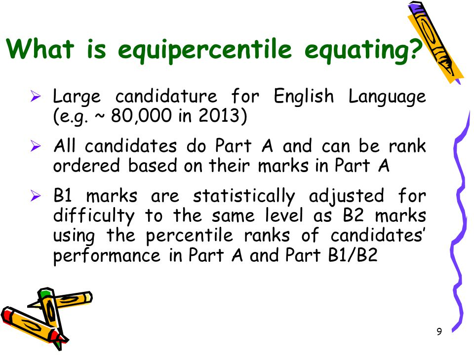 What is equipercentile equating