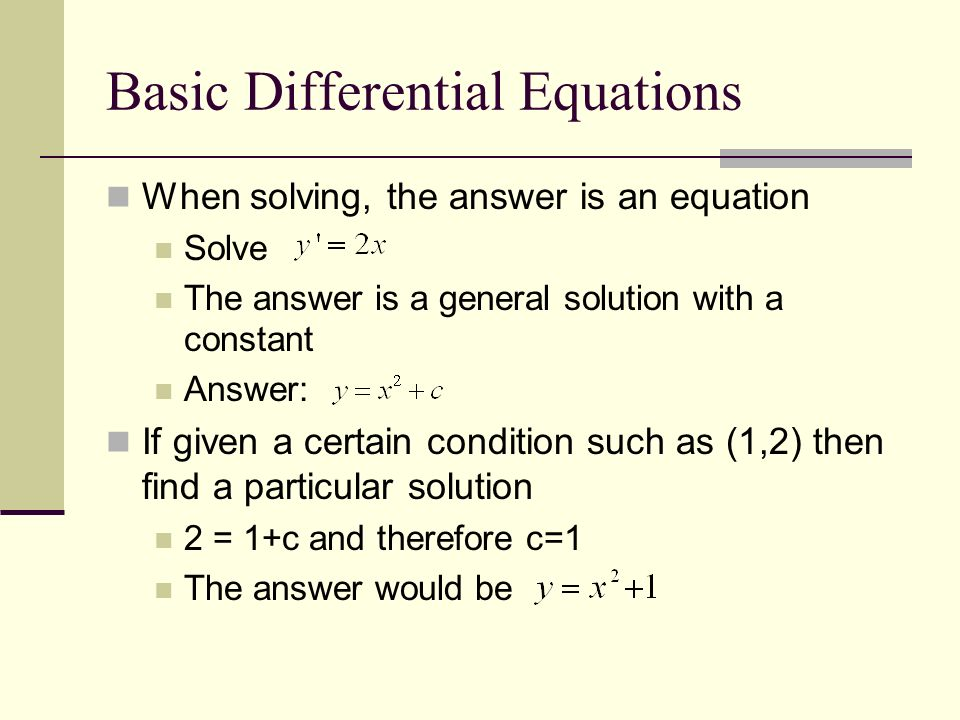 Differential Equations ppt download – Separable Differential Equations Worksheet