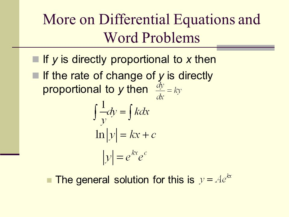 Differential equations master thesis proposal