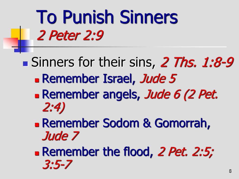 To Punish Sinners 2 Peter 2:9