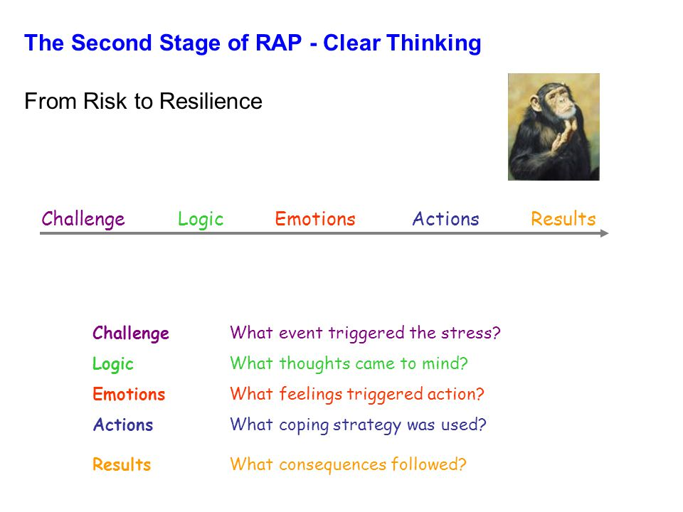 The Second Stage of RAP - Clear Thinking From Risk to Resilience