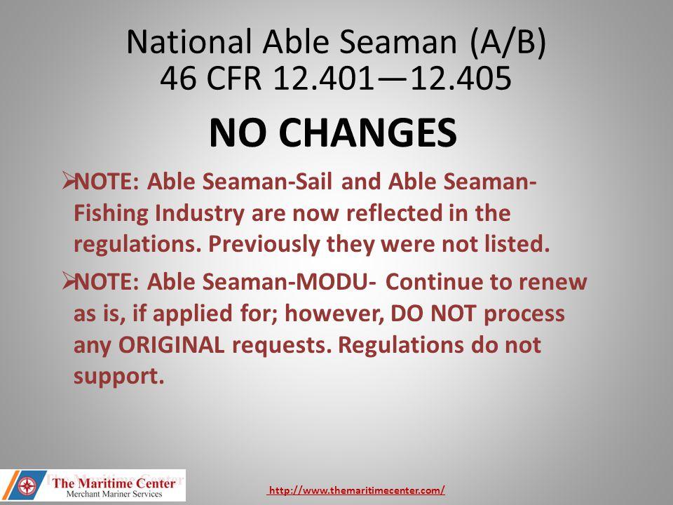 National Able Seaman (A/B) 46 CFR 12.401—12.405