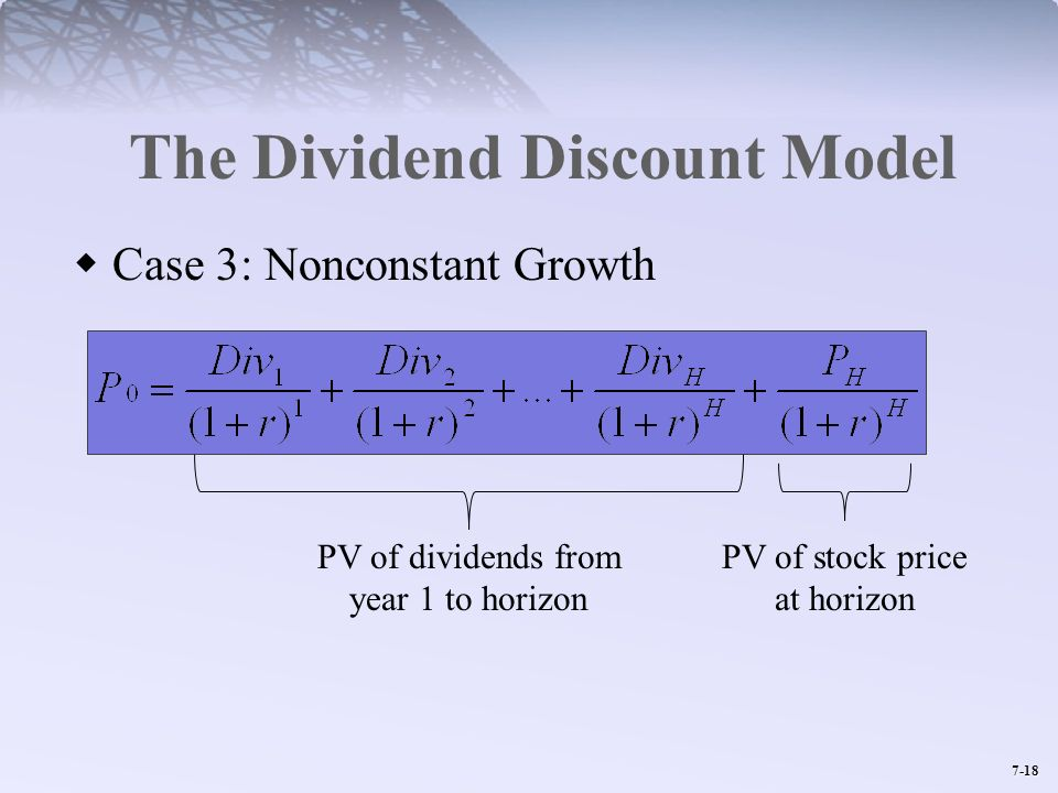 The Dividend Discount Model