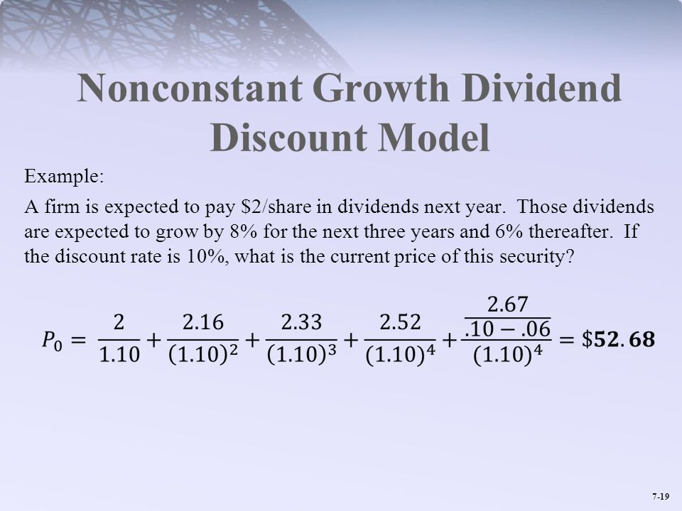 Nonconstant Growth Dividend Discount Model