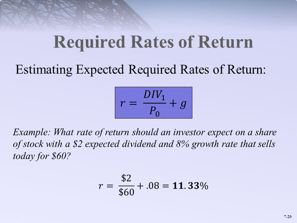 Required Rates of Return