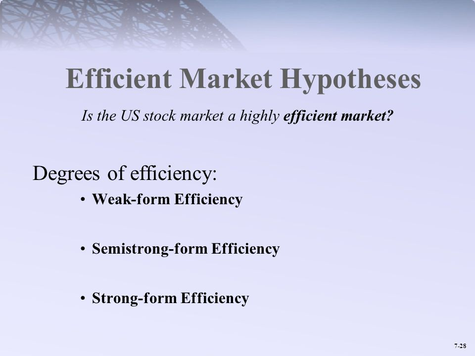 Efficient Market Hypotheses