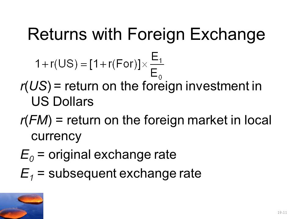 Returns with Foreign Exchange