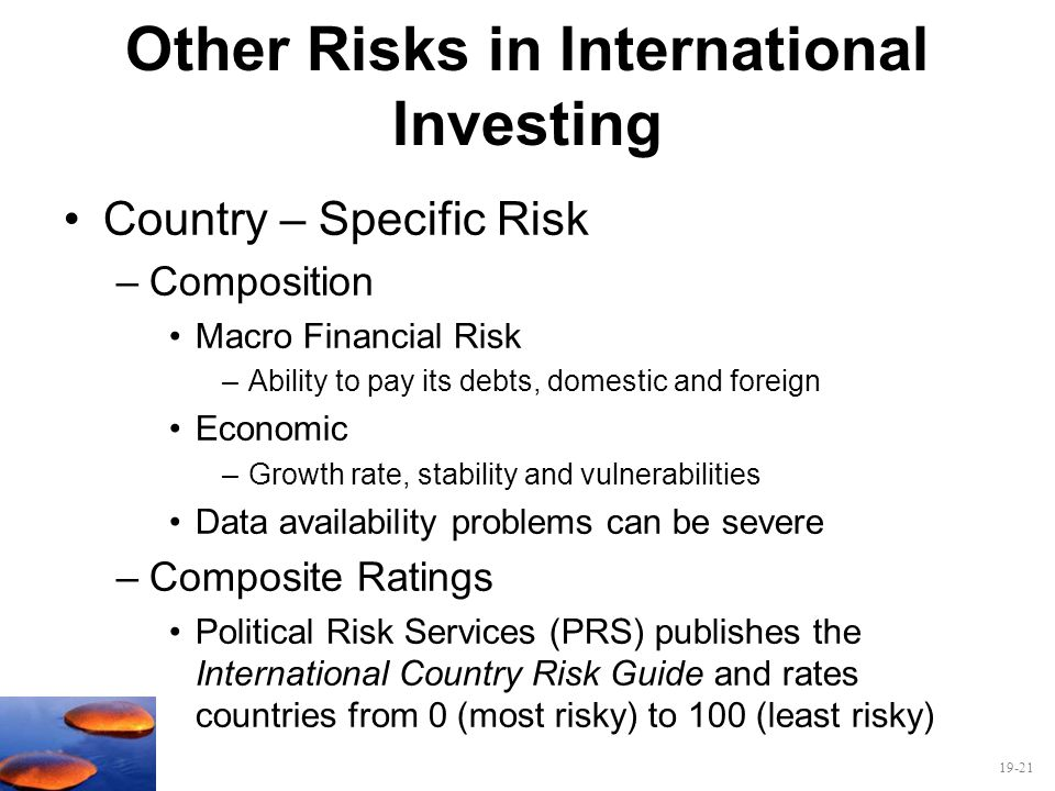 Other Risks in International Investing