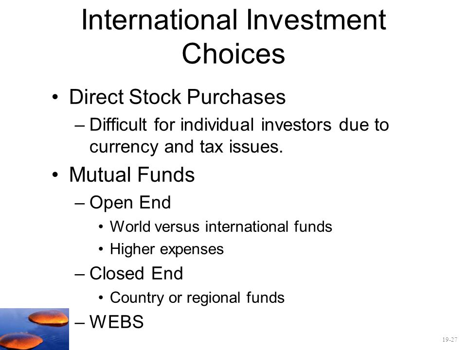 International Investment Choices