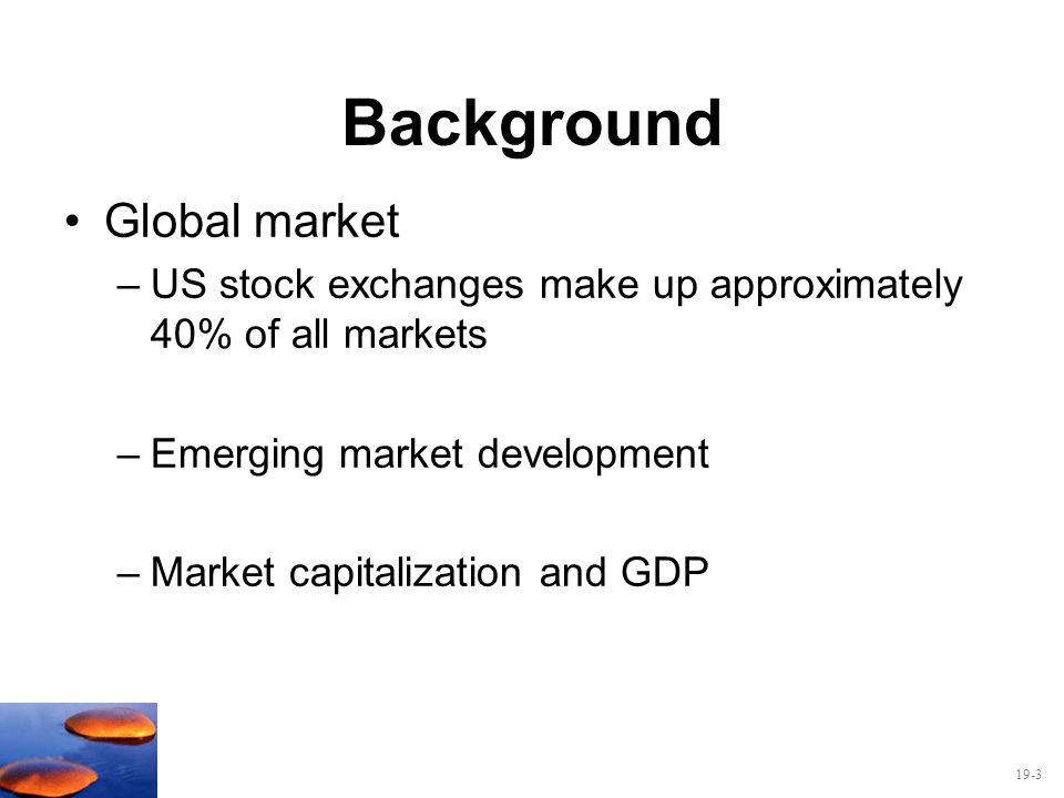 Background Global market