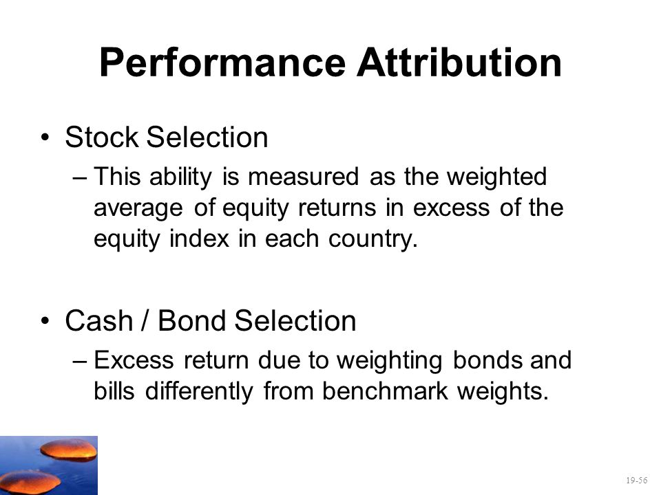 Performance Attribution