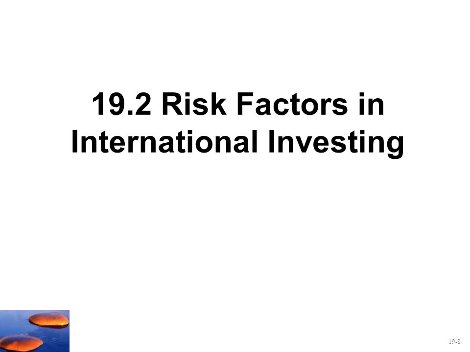 19.2 Risk Factors in International Investing