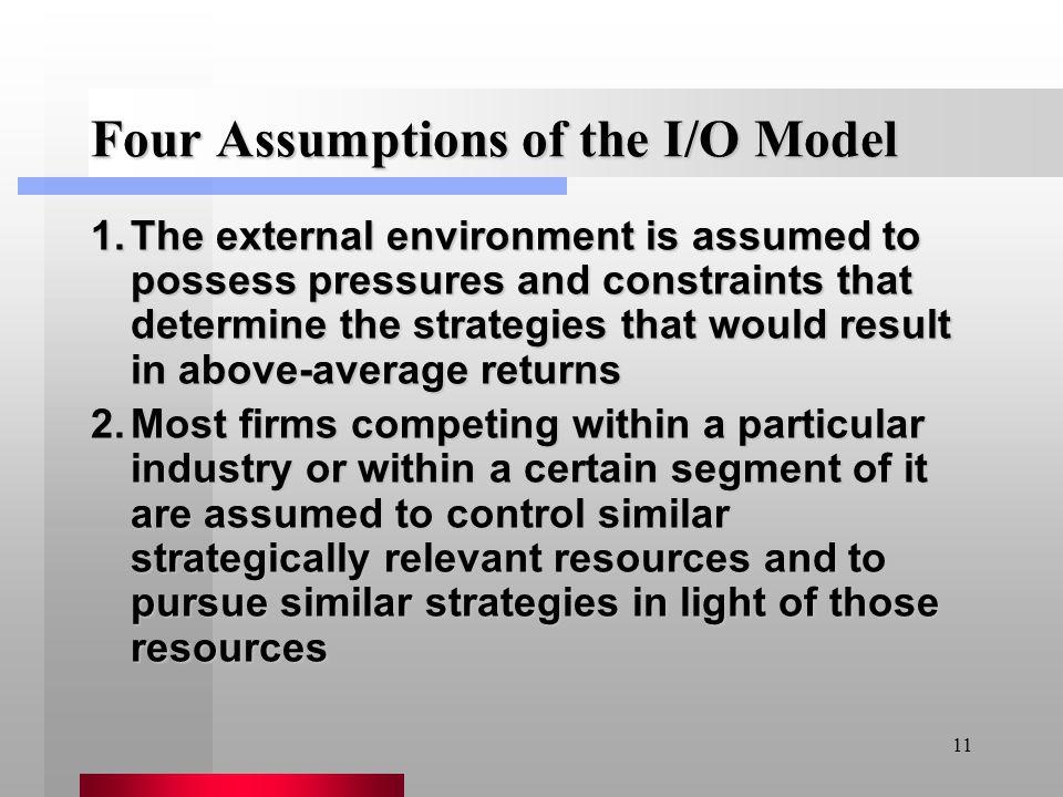 Four Assumptions of the I/O Model