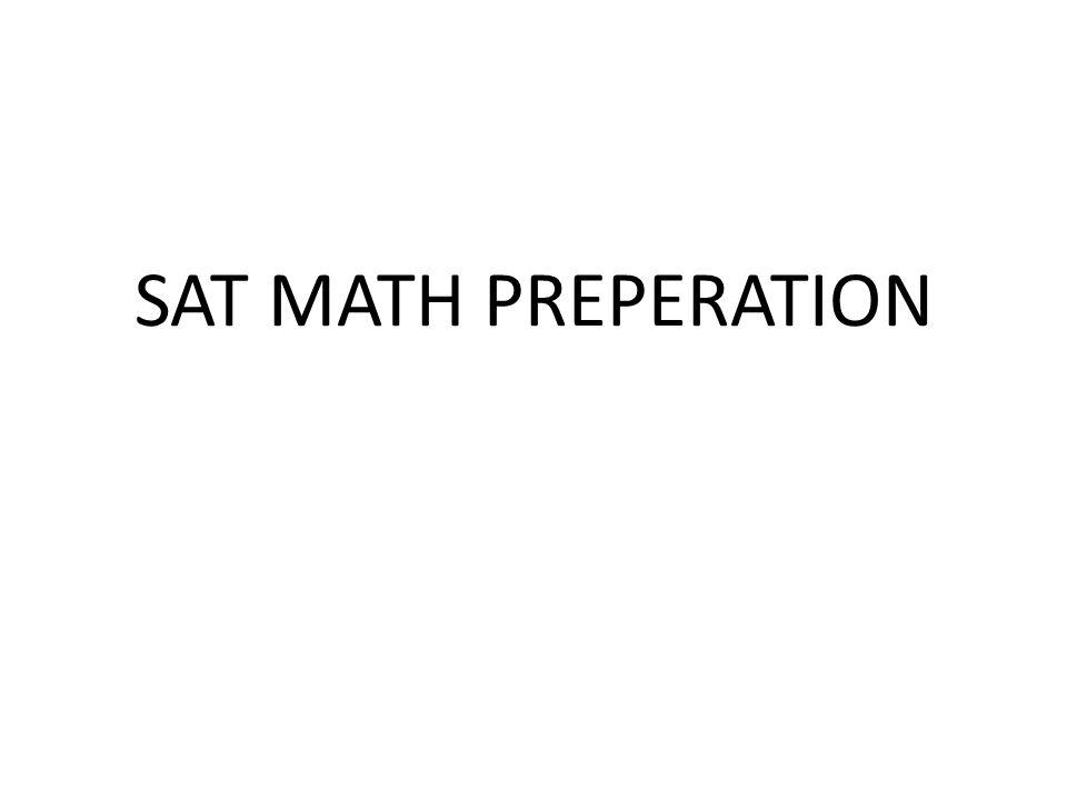 SAT MATH PREPERATION