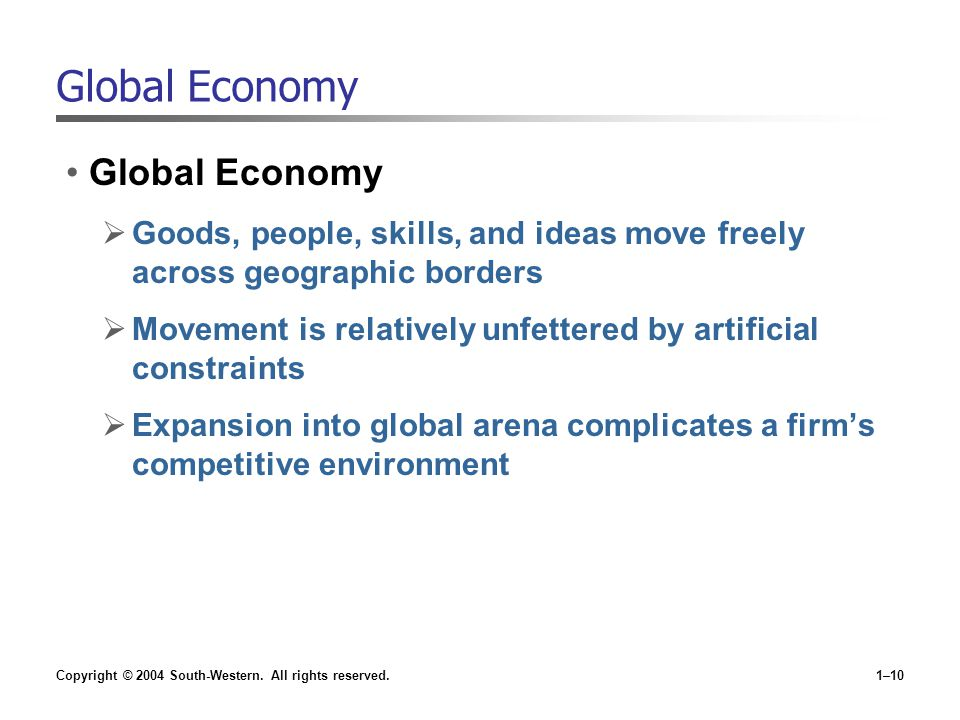 Global Economy Global Economy