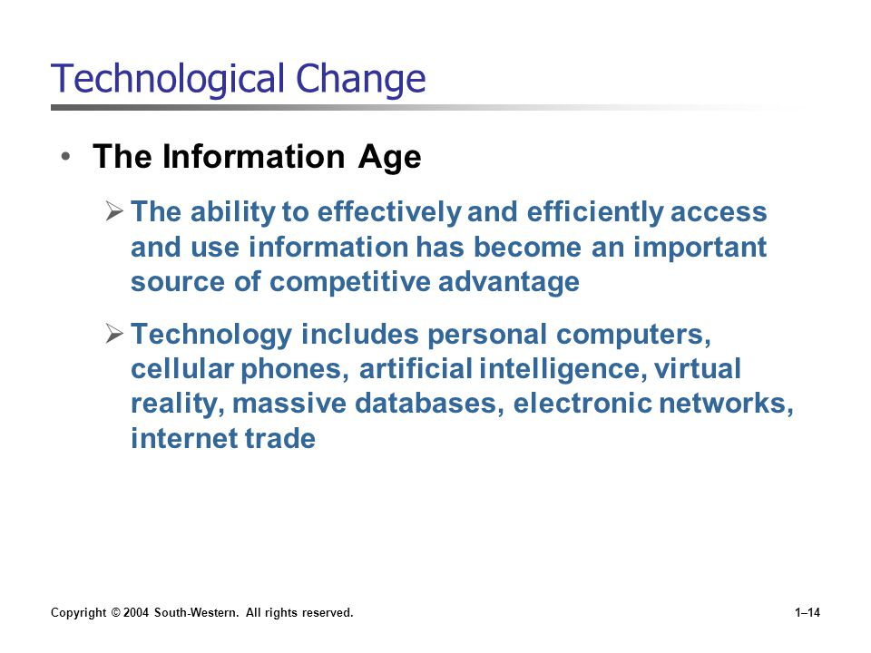 Technological Change The Information Age