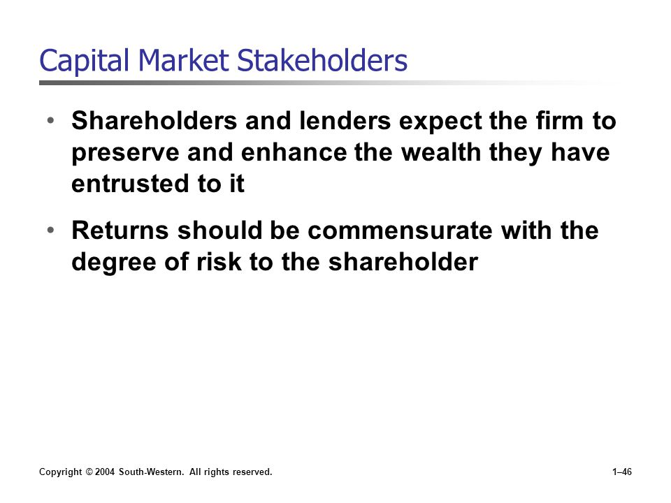 Capital Market Stakeholders