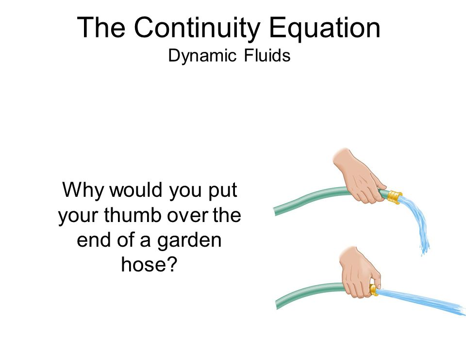 The Continuity Equation Dynamic Fluids