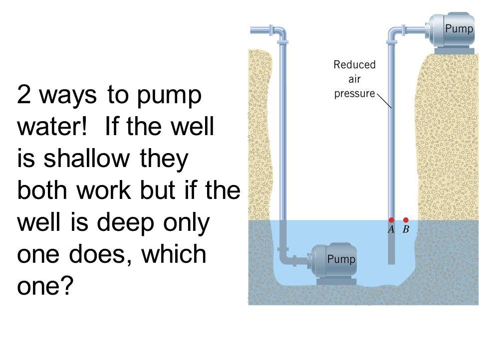 2 ways to pump water.