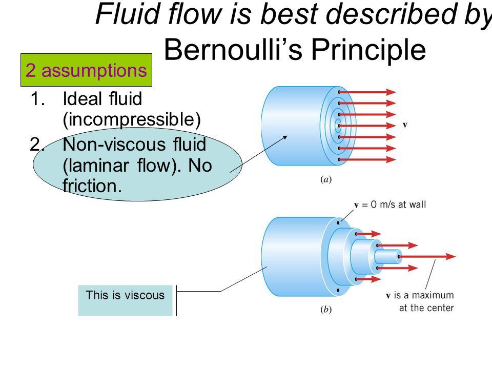 Fluid flow is best described by Bernoulli's Principle